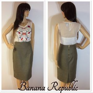 BANANA REPUBLIC STUNNING HIGH WAIST PENCIL SKIRT